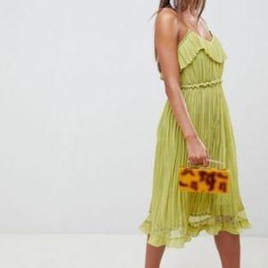 ASOS Cami pleated dress